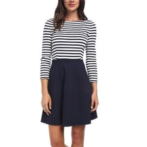 KATE SPADE SELMA NAUTICAL STRIPED DRESS